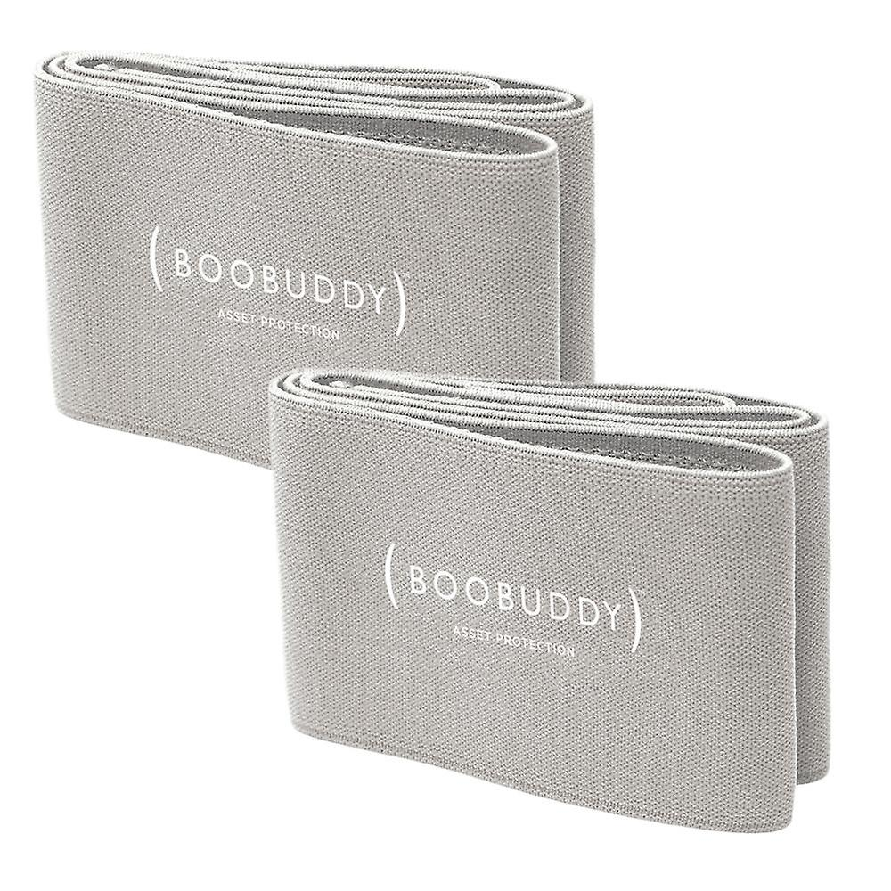 Boobuddy breast support band twin pack – grey