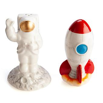 Rocket & Astronaut Salt & Pepper Set