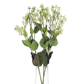 Hill Interiors Artificial Faux White Hypericum Spray