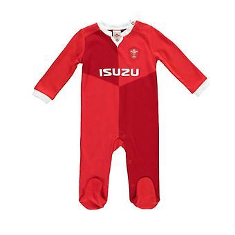 Wales WRU Rugby Baby Sleepsuit | Piros | 2019/20 szezon