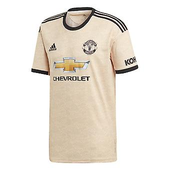 adidas Manchester United 2019/20 Homme Short Sleeve Away Football Shirt Linen