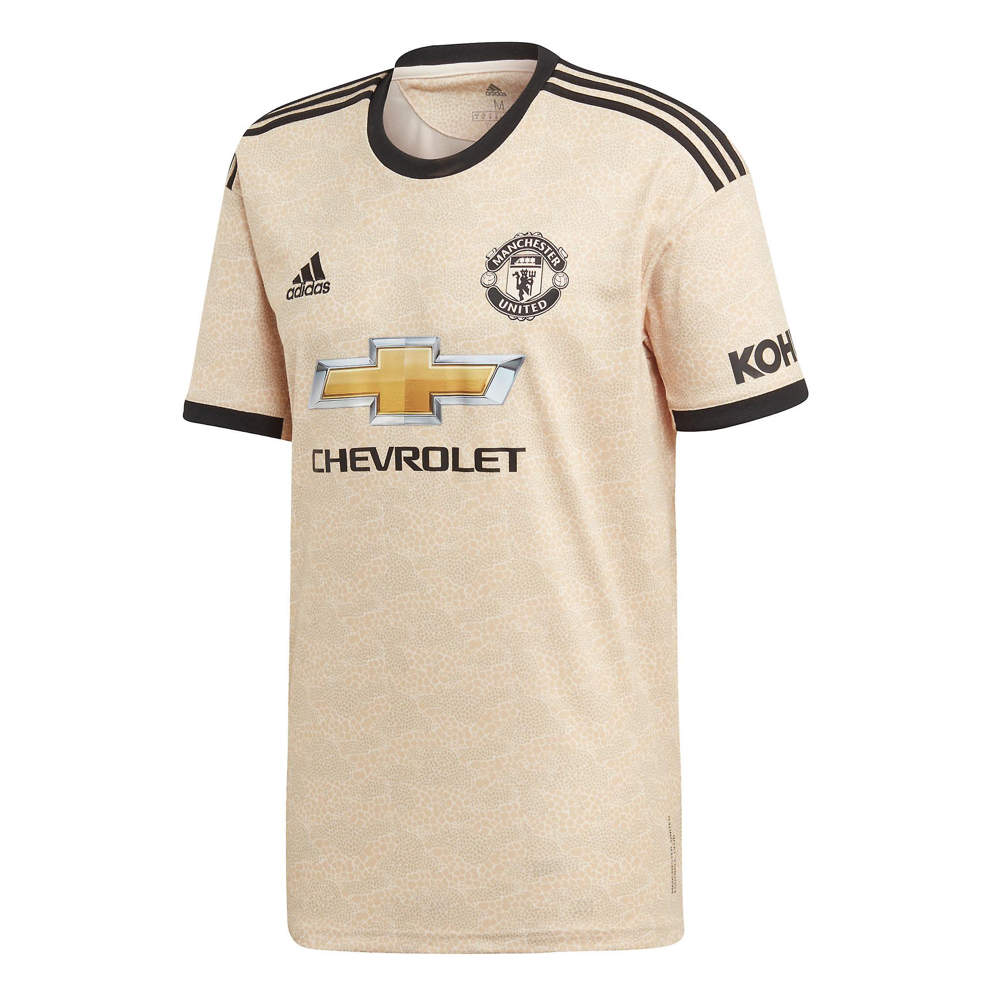 adidas Manchester United 2019/20 Mens Short Sleeve Away Football Shirt Linen