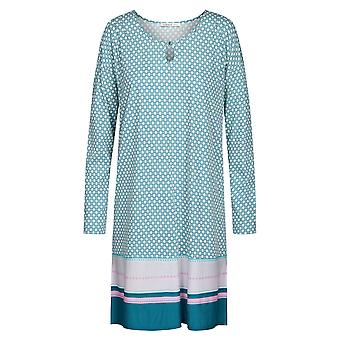 Féraud 3191006-10726 Women's High Class Mint Turquoise Cotton Night Gown Nightdress