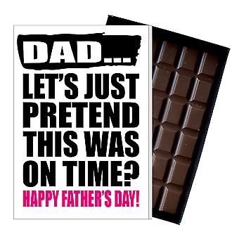 Belated Father's Day Gift Funny Chocolate Present Rude Card Dad DADIYF134