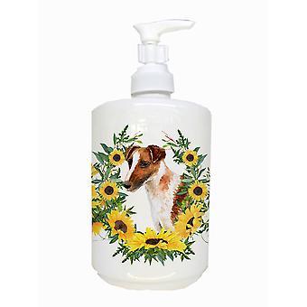 Carolines Treasures  CK2839SOAP Smooth Fox Terrier Ceramic Soap Dispenser