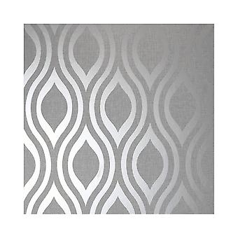 Arthouse Luxe Ogee geo Wave metallic texturerat vinyl retro tapet 910204