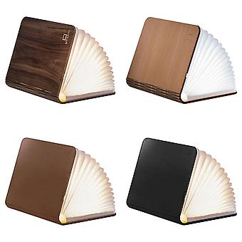 Gingko LED Large & Mini Smart Book Desk Light With Natural Wood And Leather Effect Finish, Rechargable With Micro USB Charger, Various Colours