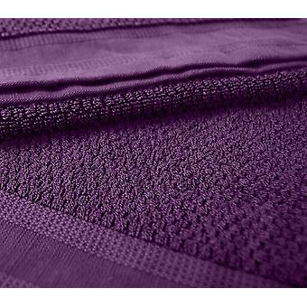 4 pieces of purple towels