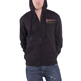 Hawkwind Hoodie Warrior On The Edge Of Time Band Logo Official Mens Black Zipped