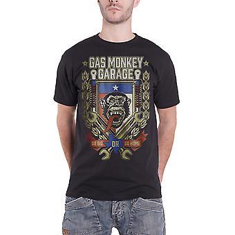 Singe de gaz Garage T Shirt aller gros ou aller maison clé Logo officiel Mens nouveau noir