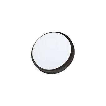 Timeguard 12W LED Round Bulkhead Slimline Indoor And Outdoor Wall Light - Black