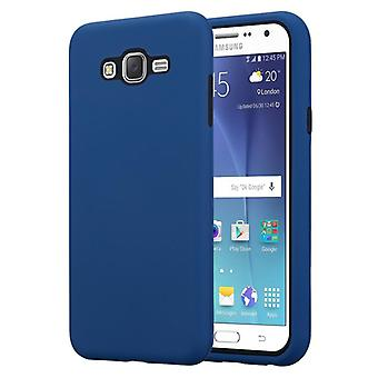 Cadorabo Case for Samsung Galaxy J7 2015 Case Cover - Hybrid Phone Case with TPU Silicone Inside and 2-Piece Plastic Outside - Protective Case Hybrid Hardcase Back Case