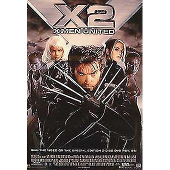 X-Men 2 X2 (Single Sided Video) Original Video/Dvd Ad Poster