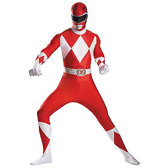 Red Ranger Mighty Morphin Power Rangers Body Superheld Erwachsene Herren Kostüm XL