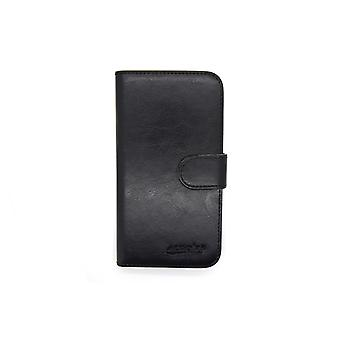 Xperia Z3 wallet case shell leather black