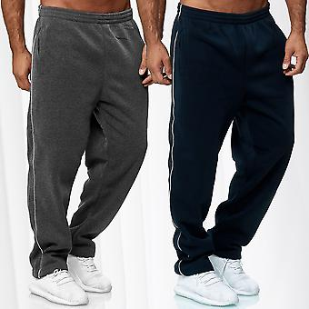 Men Sweat Pants Baggy Sports Trousers Jogging Activewear Fitness Training Stripe