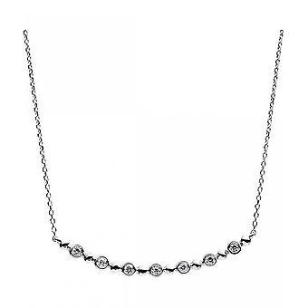 Diamond Collier Collier-14K 585/-hvid guld-0,07 CT.