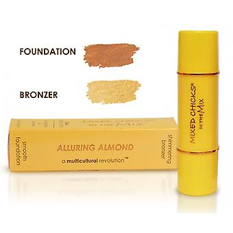 Mixed Chicks In The Mix Foundation / Bronzer - Alluring Almond