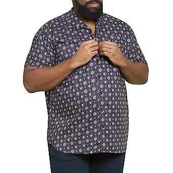 Duke D555 Homme Big Tall Kingsize Langford Short Sleeve Chemise Viscose