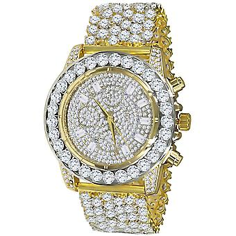 High Quality FULL ICED OUT ZIRKONIA Uhr - gold