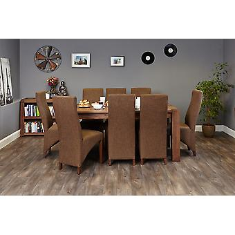 Walnut Large Dining Table (Seats 6-8) Brown - Baumhaus