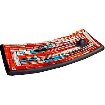 Mosaic Incense Burner - Red and Blue