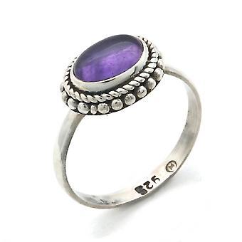Ring Silver 925 Sterling Silver Amethyst Purple Stone (Nr: IRM 135)
