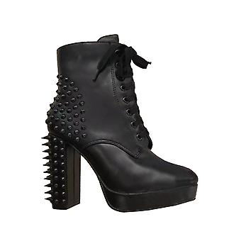 Attitude Clothing Black Spike High Heel Boot