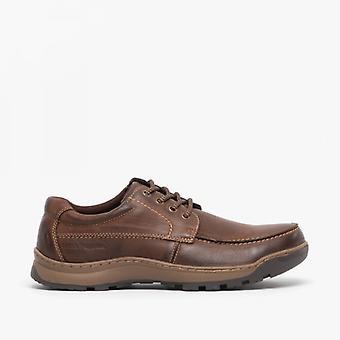 Hush Welpen Tucker Herren Leder Casual Schuhe braun
