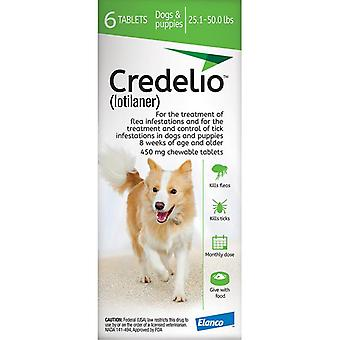 Credelio Green Large Dogs 11-22 kg (25.1-50 lbs) 6 Pack