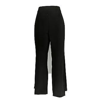 Susan Gravir Donne's Petite Pantaloni MP Liquid Knit Split Leg Pantaloni Nero A301159