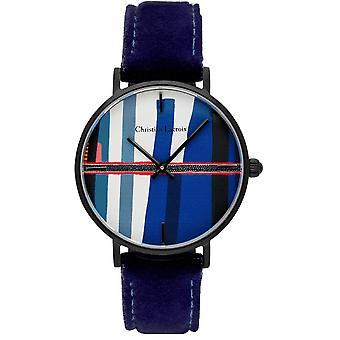 Uhr Christian Lacroix Uhren CLFH1821 - Armbanduhr Leder blau Frau