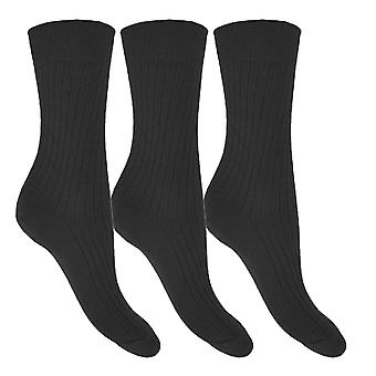 Socks Uwear Mens 100% Cotton Loose Top Non Elastic Socks (Pack of 12)