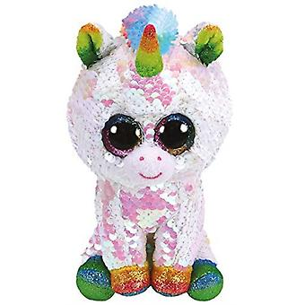 Ty - Beanie Boos Flippables Pixy Unicorn Sequins Soft Toy