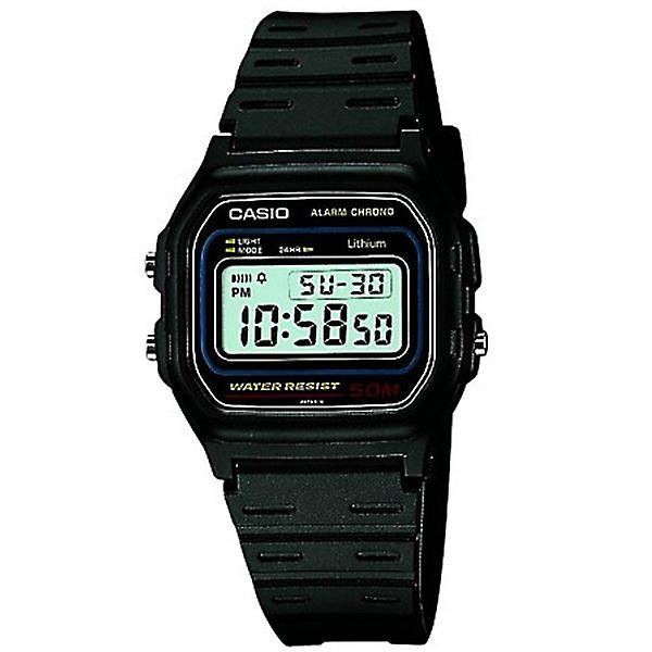 Casio W-59-1vqes Black Rubber Digital Retro Men's Watch