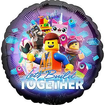 Anagramma il Lego Movie 2 consente di costruire insieme rotondo foil palloncino