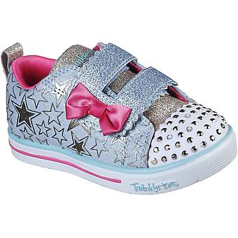 Skechers Girls Sparkle Lite Stars So Bright Light Up Shoes