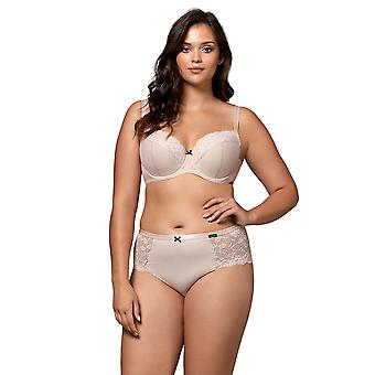 Nipplex Women-apos;s Pia Cappuccino Beige Spotted Lace Underwired Full Cup Soutien-gorge