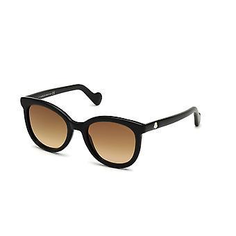 Moncler ML 0119 01F Shiny Black/Brown Gradient Sunglasses