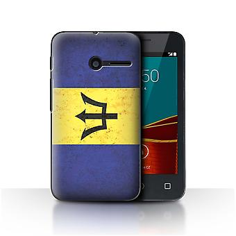 STUFF4 Case/Cover for Vodafone Smart First 6/Barbados/Barbadian/Americas Flag
