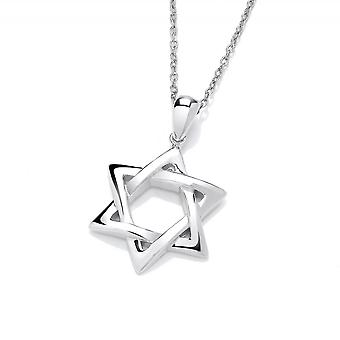 David Deyong Sterling Silver Intertwined Star Of David Necklace