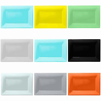 Amscan Plastic Rectangular Party Platters (Pack Of 3)