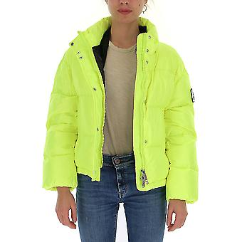 Na Label Al033s100 Women's Yellow Polyester Down Jacket