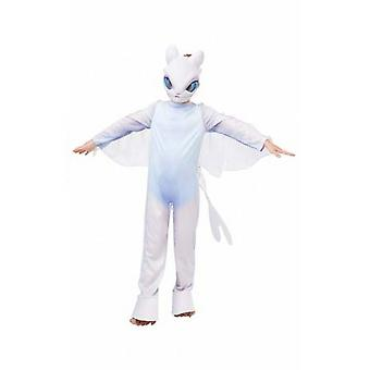 How To Train Your Dragon Childrens/Kids Light Fury Costume