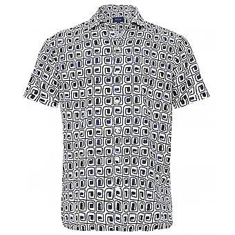Eton Leinen Kurzarm Resort Shirt