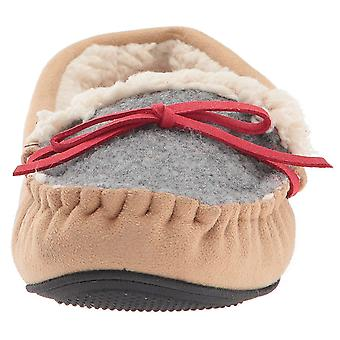 Dearfoams Women's Mixed Material Moccasin with Q
