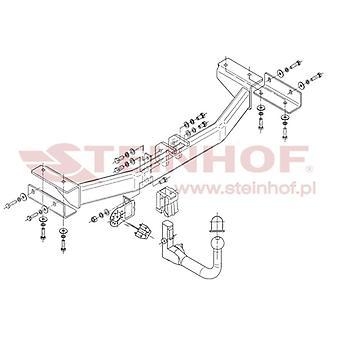Automatyczny odłączany pasek holowniczy Steinhof (pionowy) dla Hyundaia ix35 2010-2015