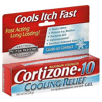 Gel de alívio legal anti-coceira Cortizone 10 hidrocortisona, 1oz