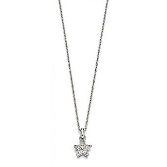 Little Star Sirena Silver & Pave Diamond Star Children's Necklace