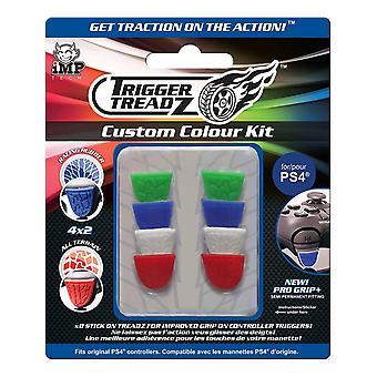 Trigger Treadz 8-Pack Custom Colour Kit for PS4 Controller